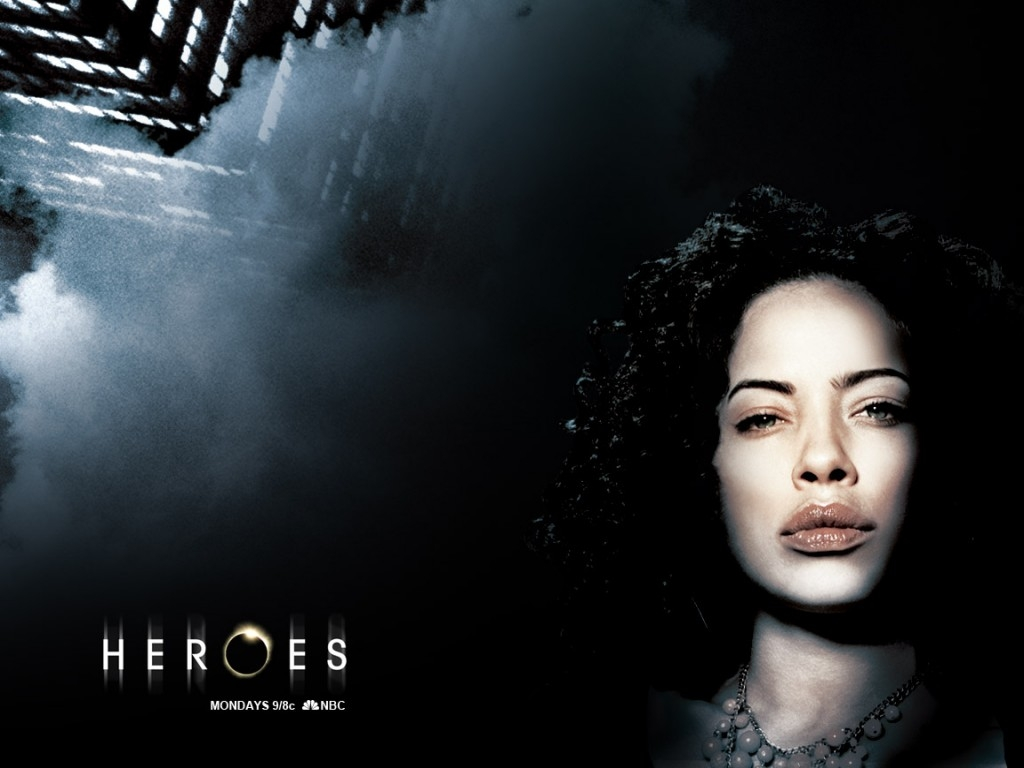 un wallpaper della serie Heroes con una delle protagoniste