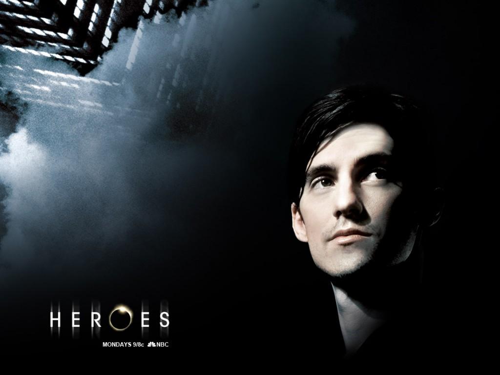 Wallpaper della serie Heroes con uno degli interpreti