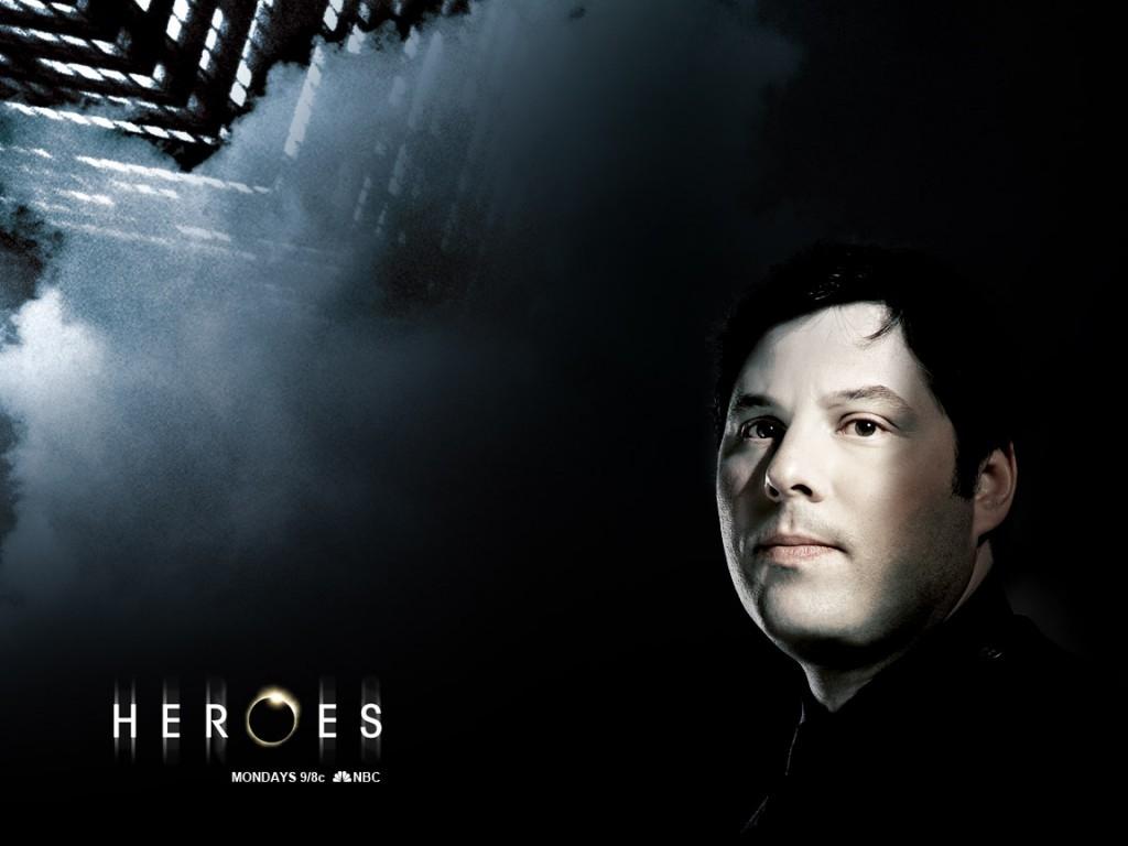 Wallpaper della serie Heroes con uno degli interpreti principali