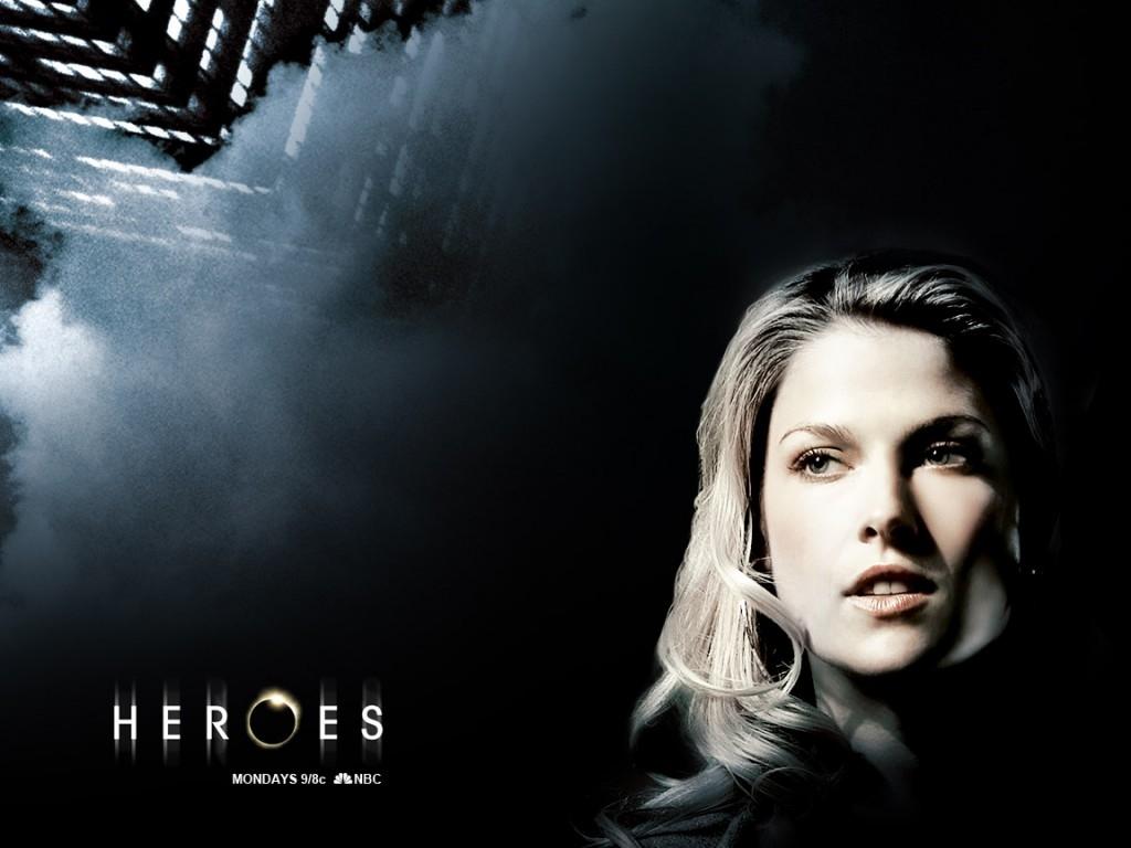 Wallpaper della serie Heroes con una delle protagoniste