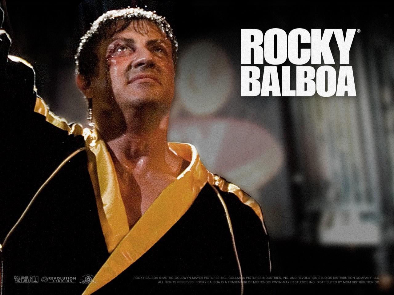 Wallpaper del film Rocky Balboa con Sylvester Stallone