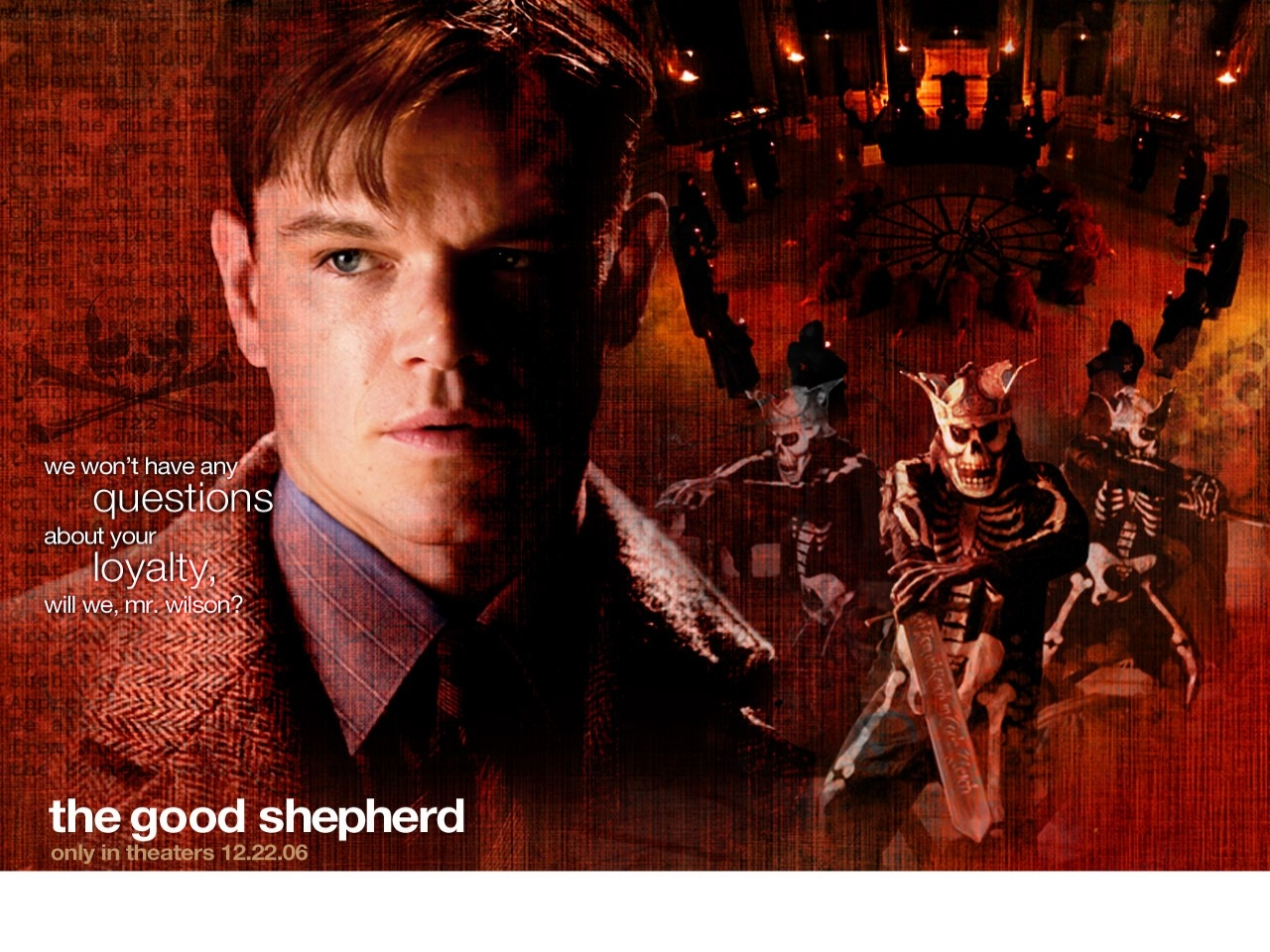 Wallpaper del film The Good Shepherd - L'ombra del potere con Matt Damon