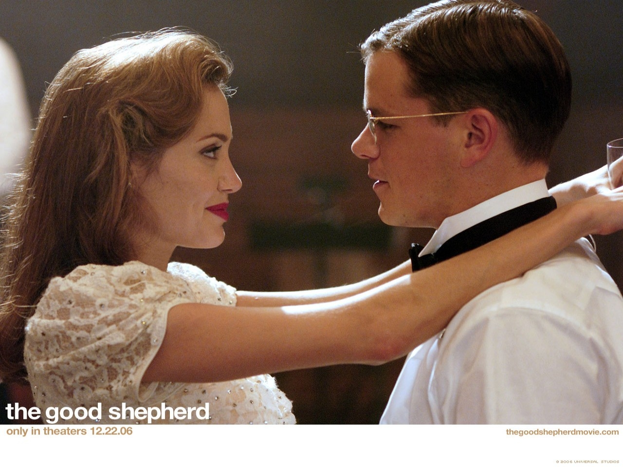 Wallpaper del film The Good Shepherd - L'ombra del potere con Damon e la Jolie