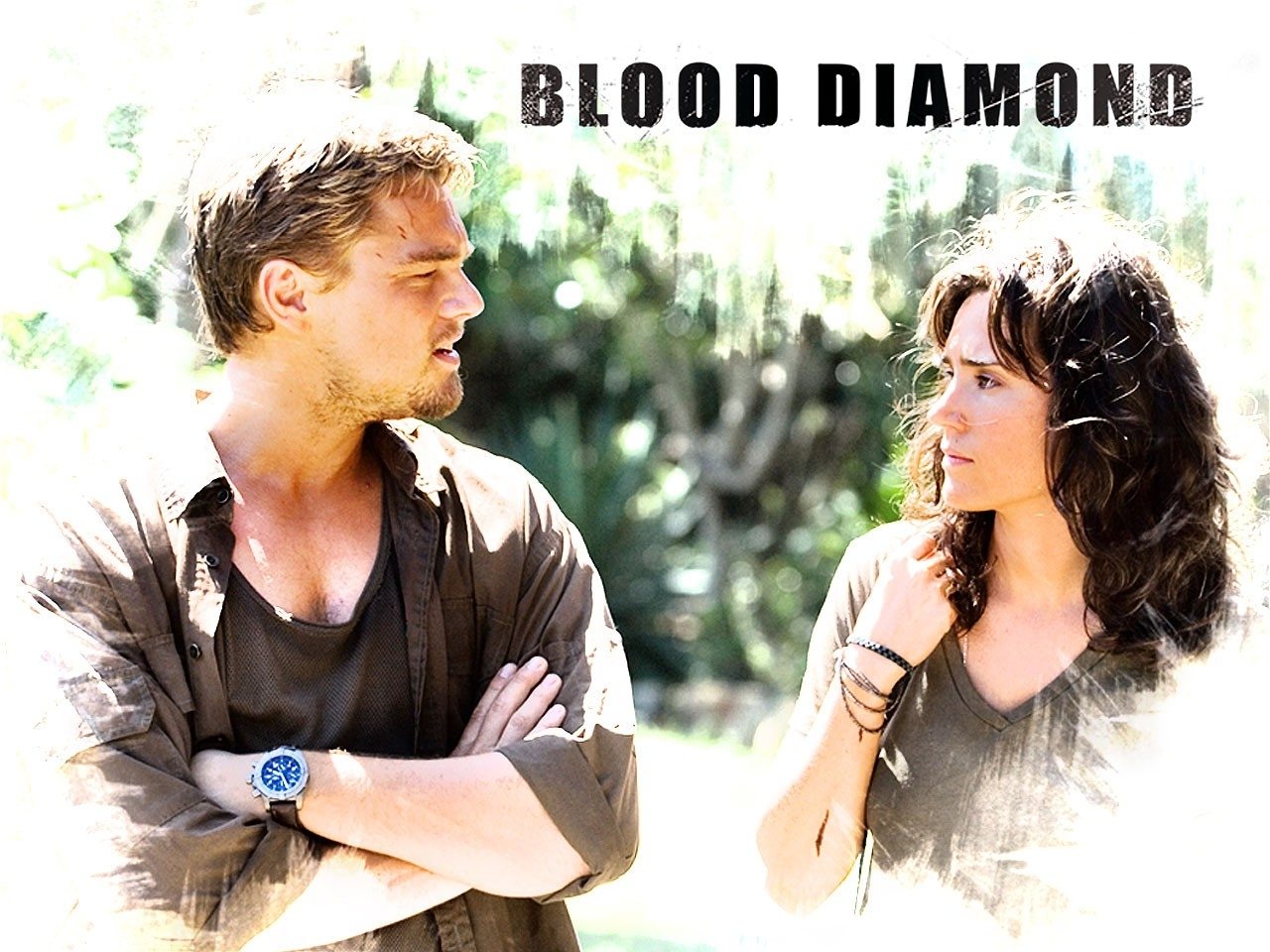 Wallpaper del film Blood Diamond - Diamanti di sangue con Jennifer Connelly e Leonardo DiCaprio