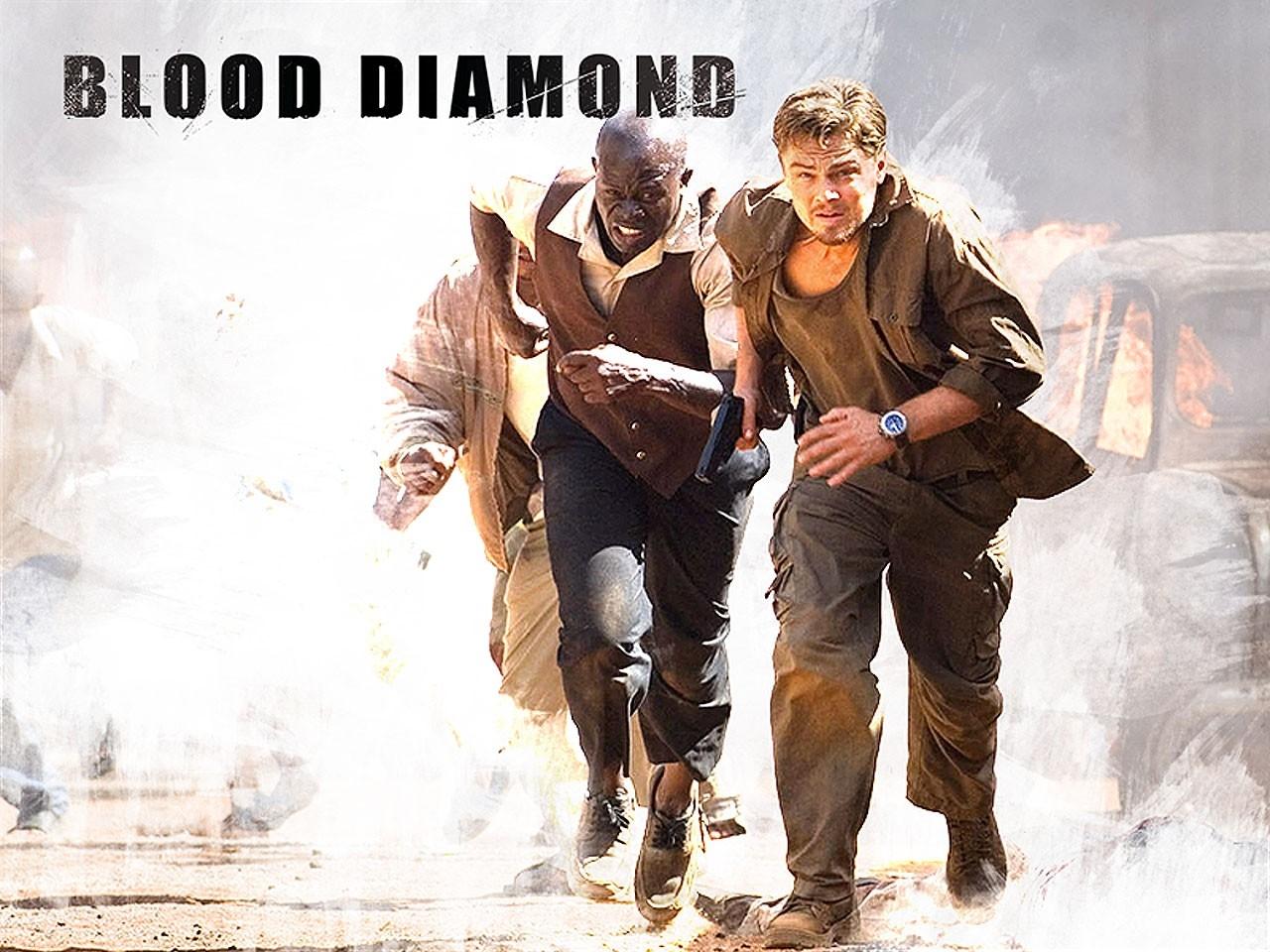 Wallpaper del film Blood Diamond - Diamanti di sangue, con Leonardo DiCaprio