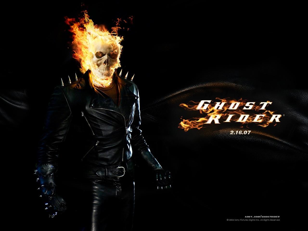 Un bellissimo wallpaper del film Ghost Rider