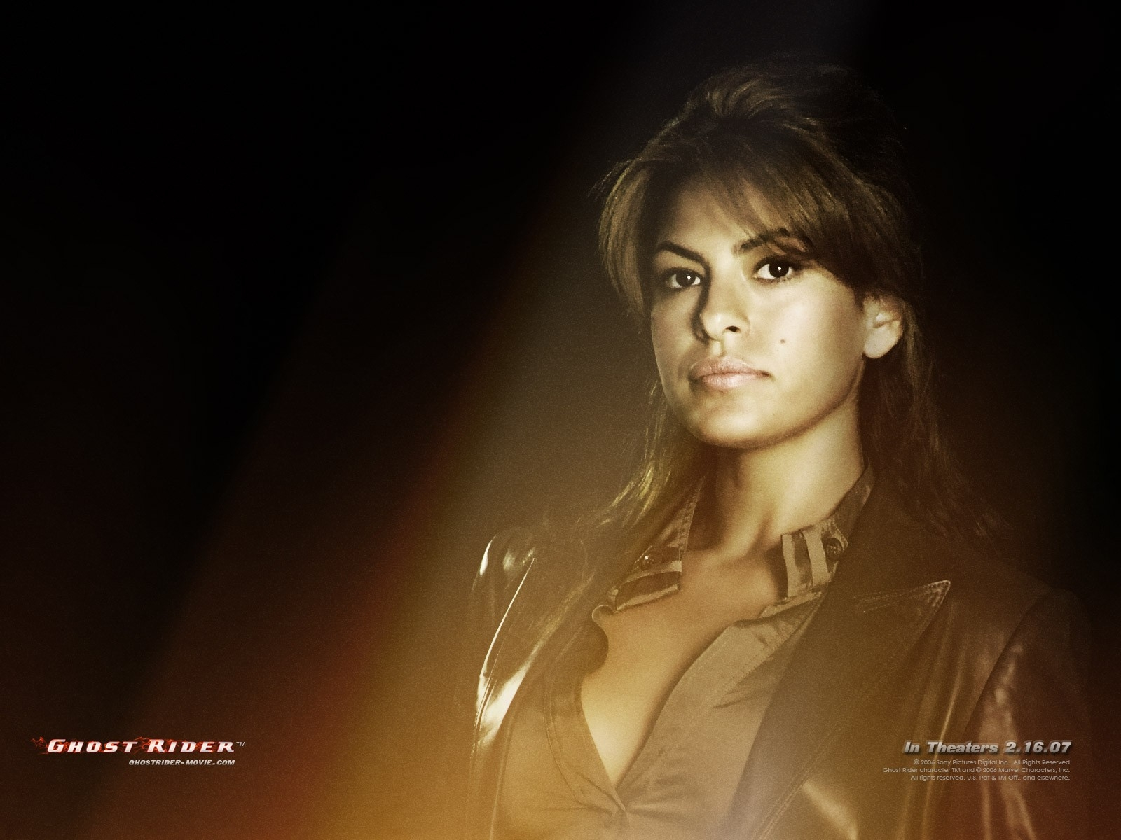 Wallpaper del film Ghost Rider con Eva Mendes