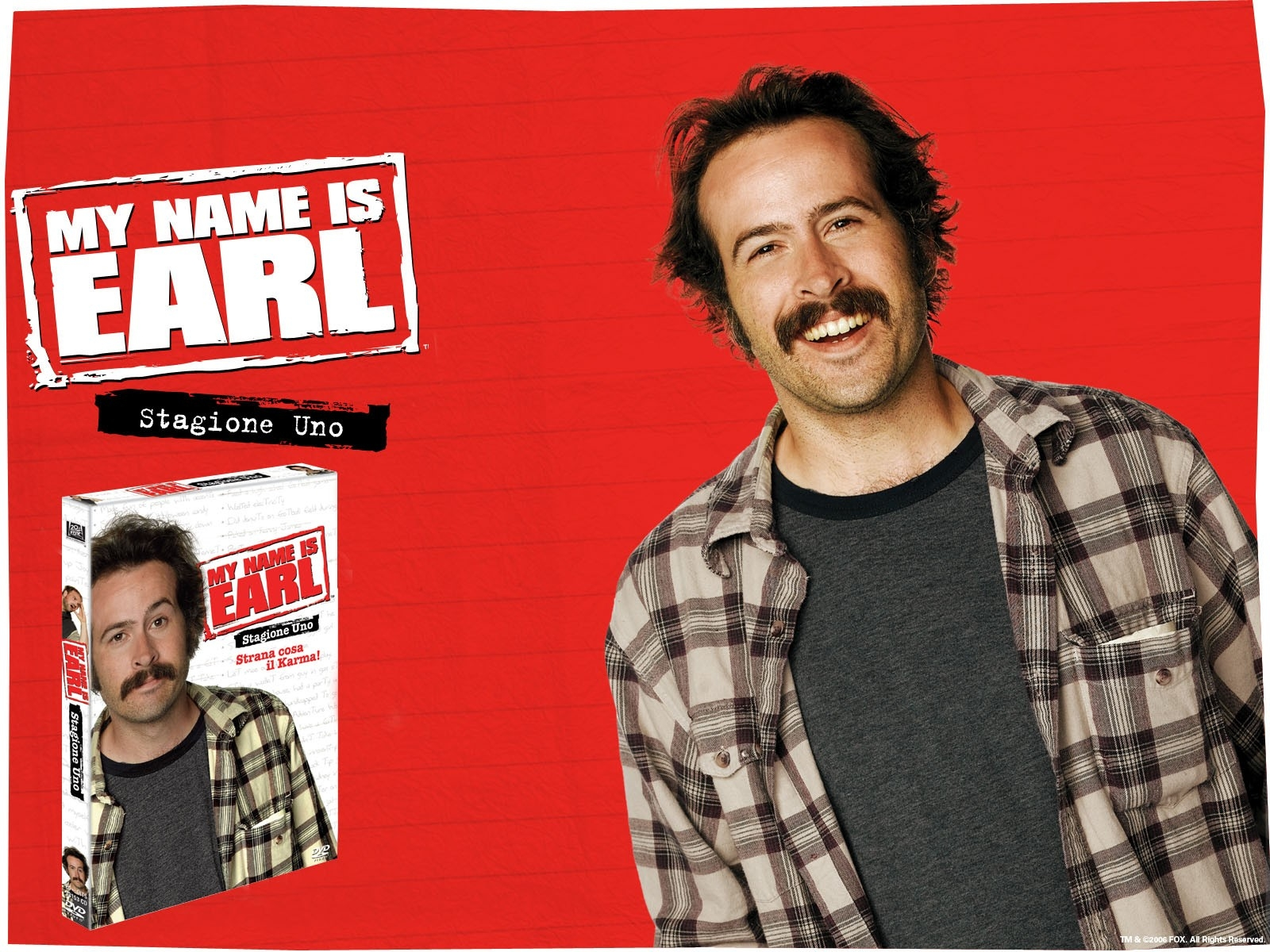 Wallpaper della serie My Name Is Earl con Jason Lee
