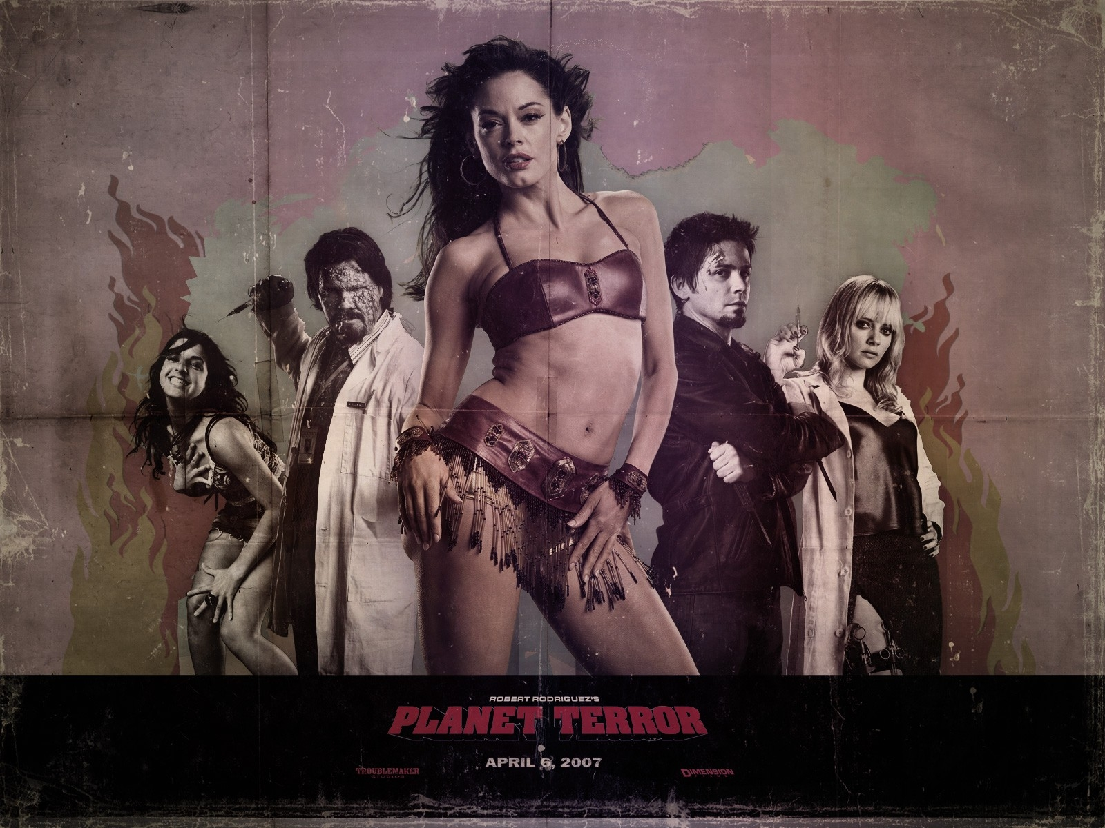 Wallpaper del film Grindhouse con una splendida Rose McGowan