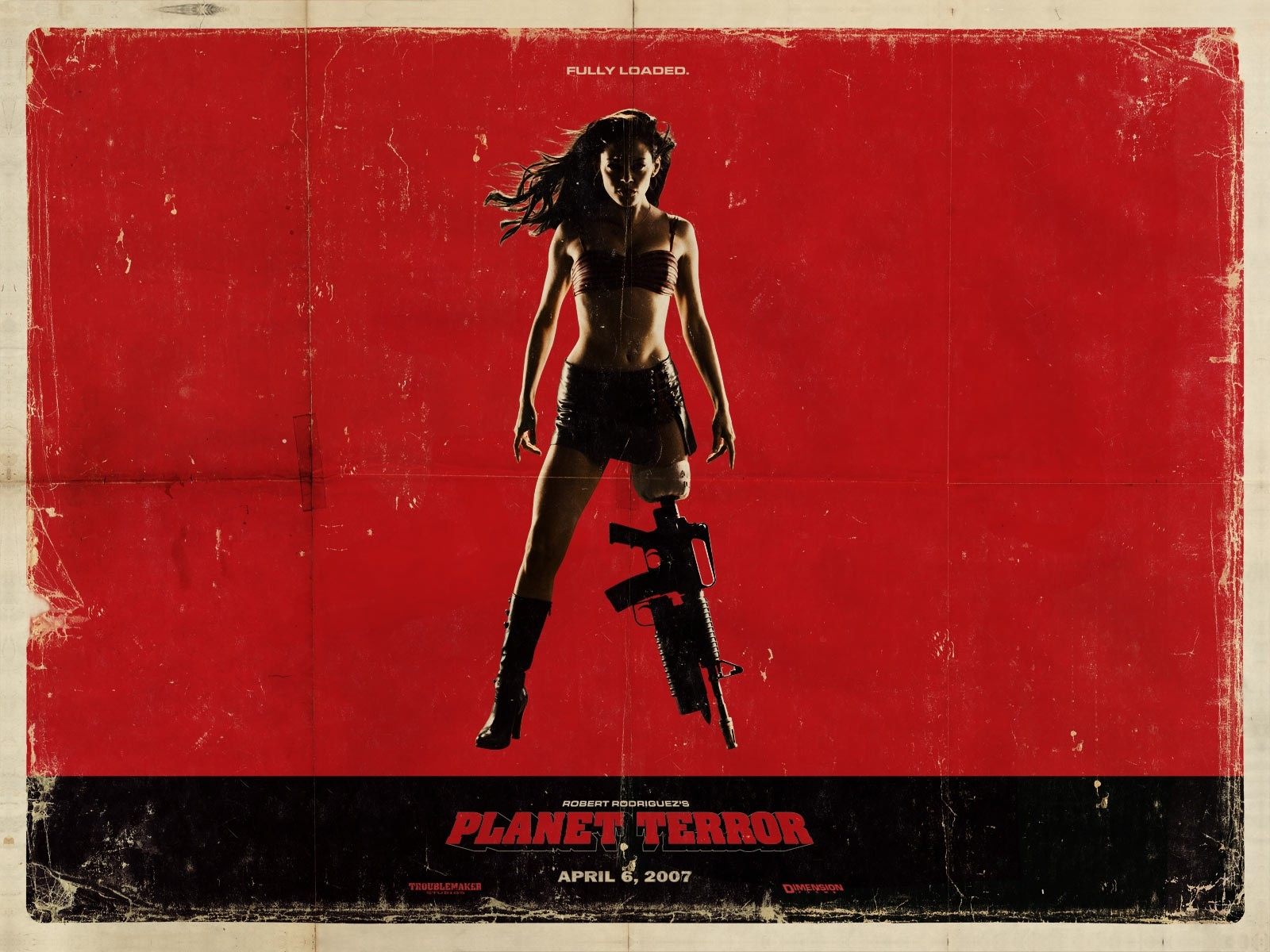 Wallpaper del film Grindhouse, episodio Planet Terror (con Rose McGowan)