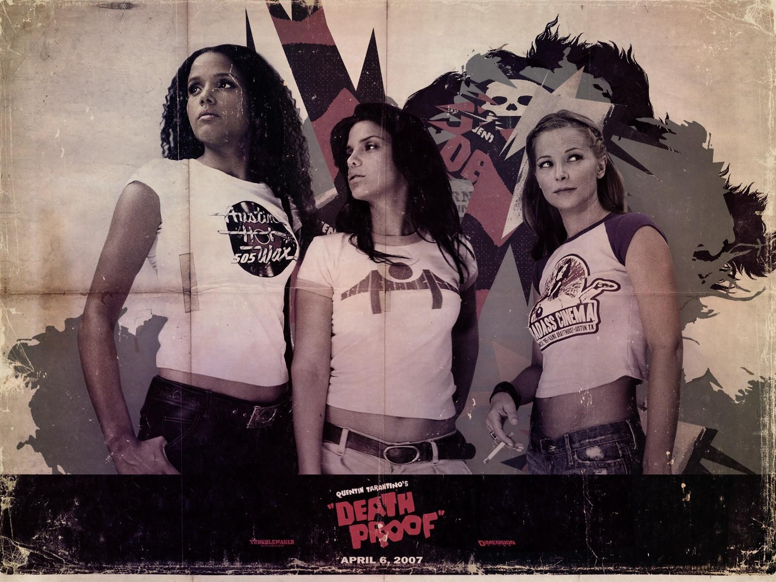 Wallpaper del film Grindhouse con le sexy protagoniste dell'episodio A prova di morte