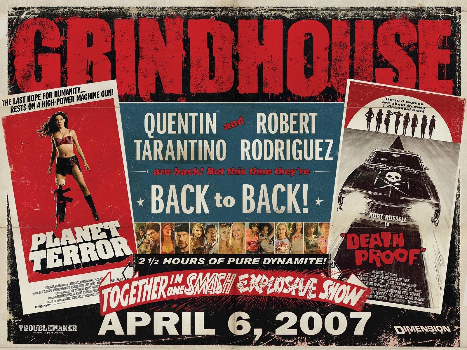 Wallpaper del double feature Grindhouse