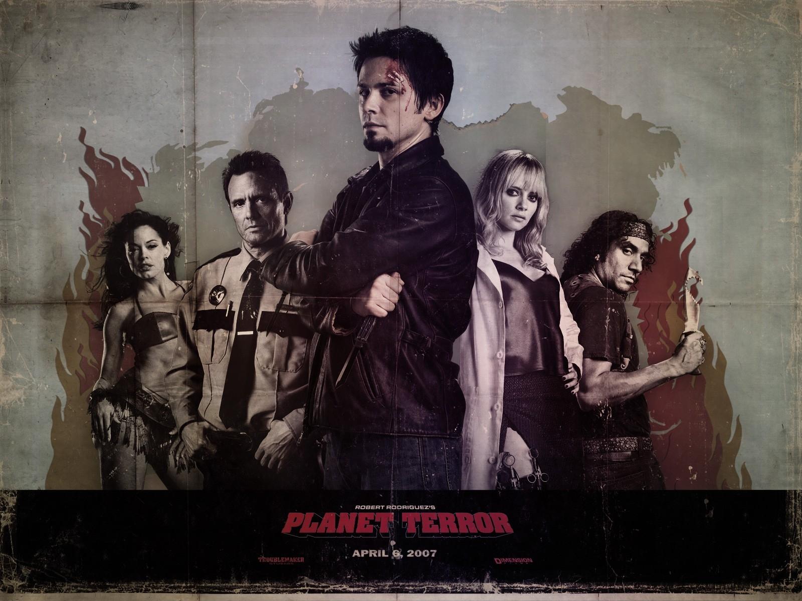 Wallpaper del film Grindhouse con Freddy Rodriguez al centro