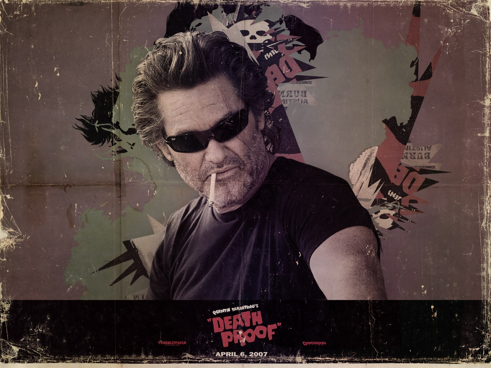 Wallpaper del film Grindhouse con Kurt Russell