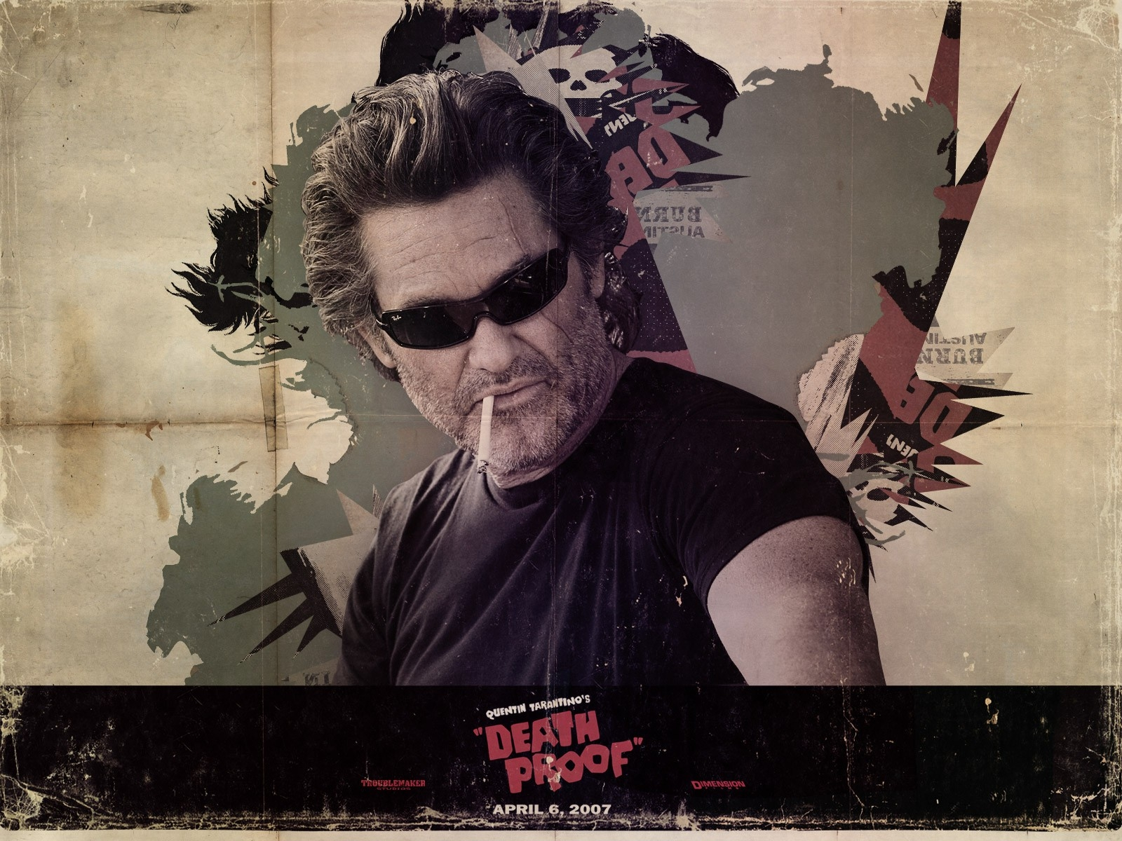 Kurt Russell in un wallpaper del film Grindhouse
