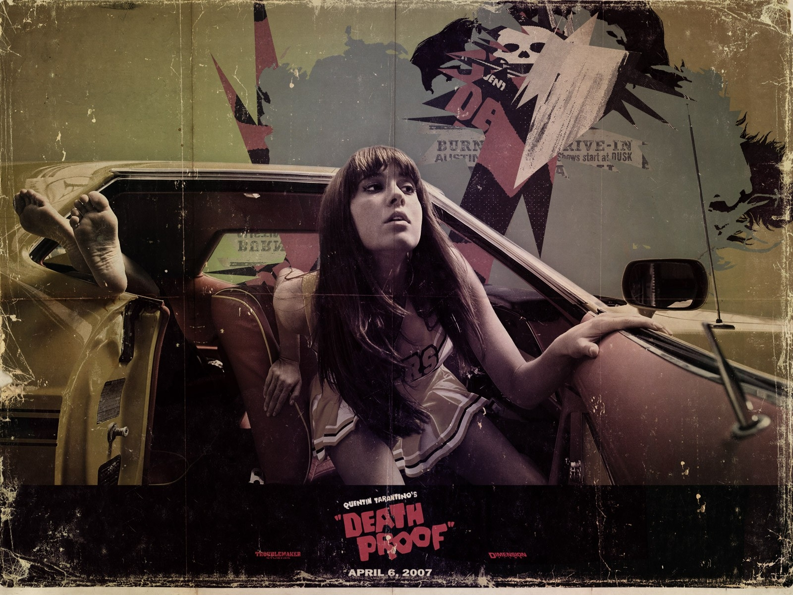 Wallpaper del film Grindhouse con Mary Elizabeth Winstead