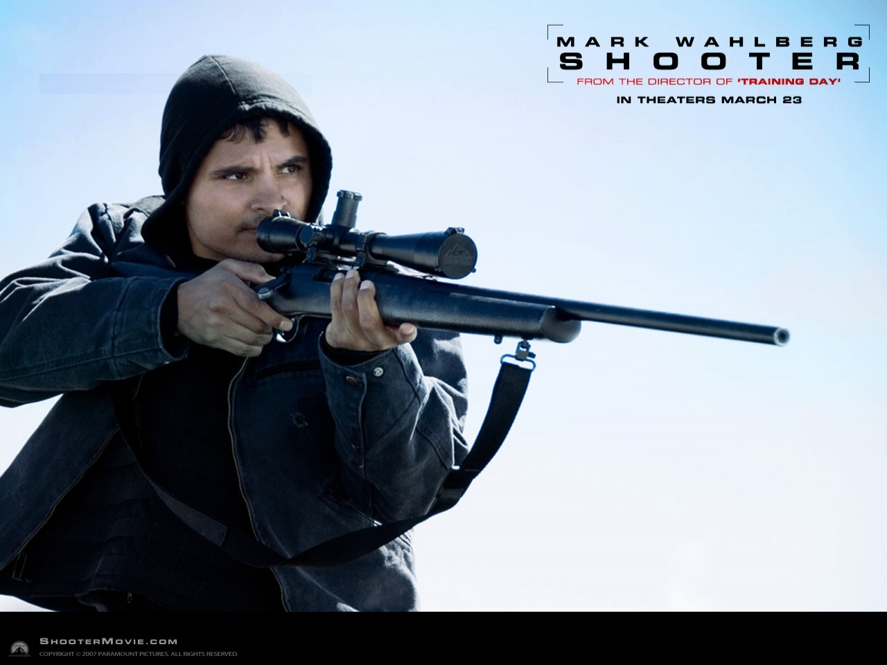 Wallpaper del film Shooter con Michael Pena