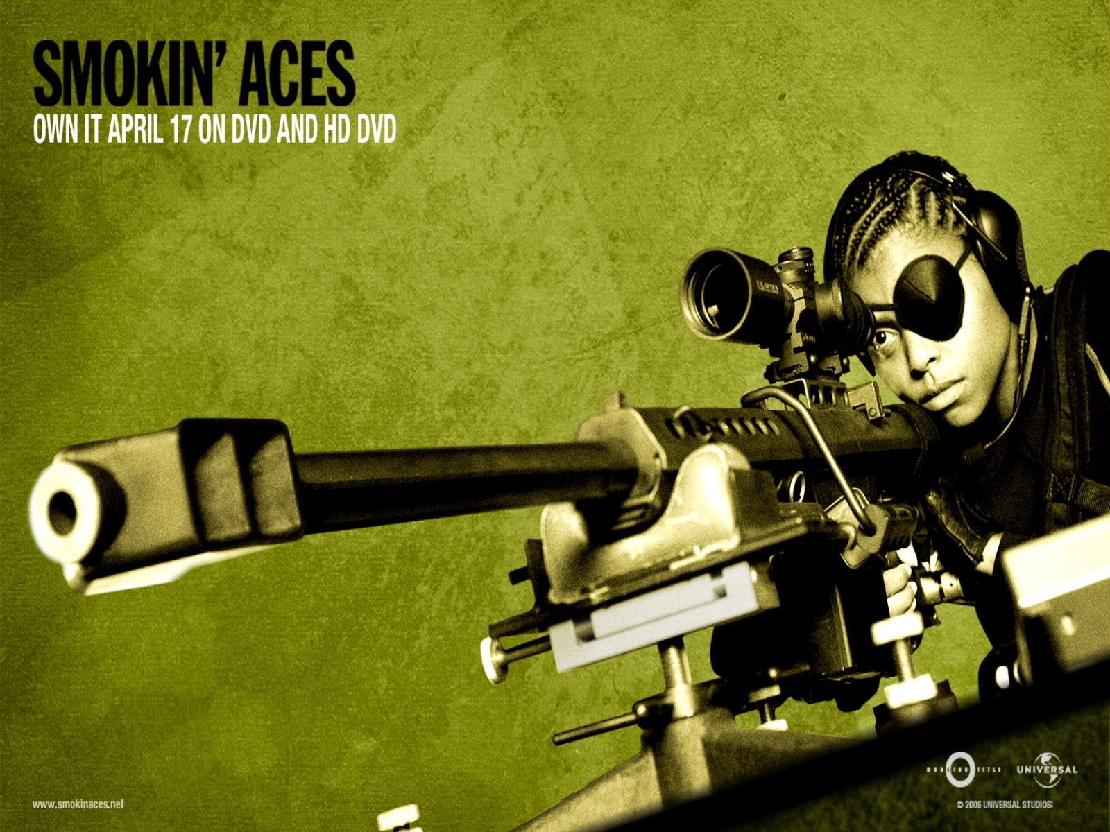 Wallpaper verde acido del film Smokin' Aces