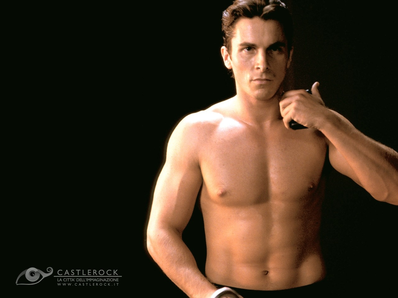Wallpaper sexy di Christian Bale a torso nudo