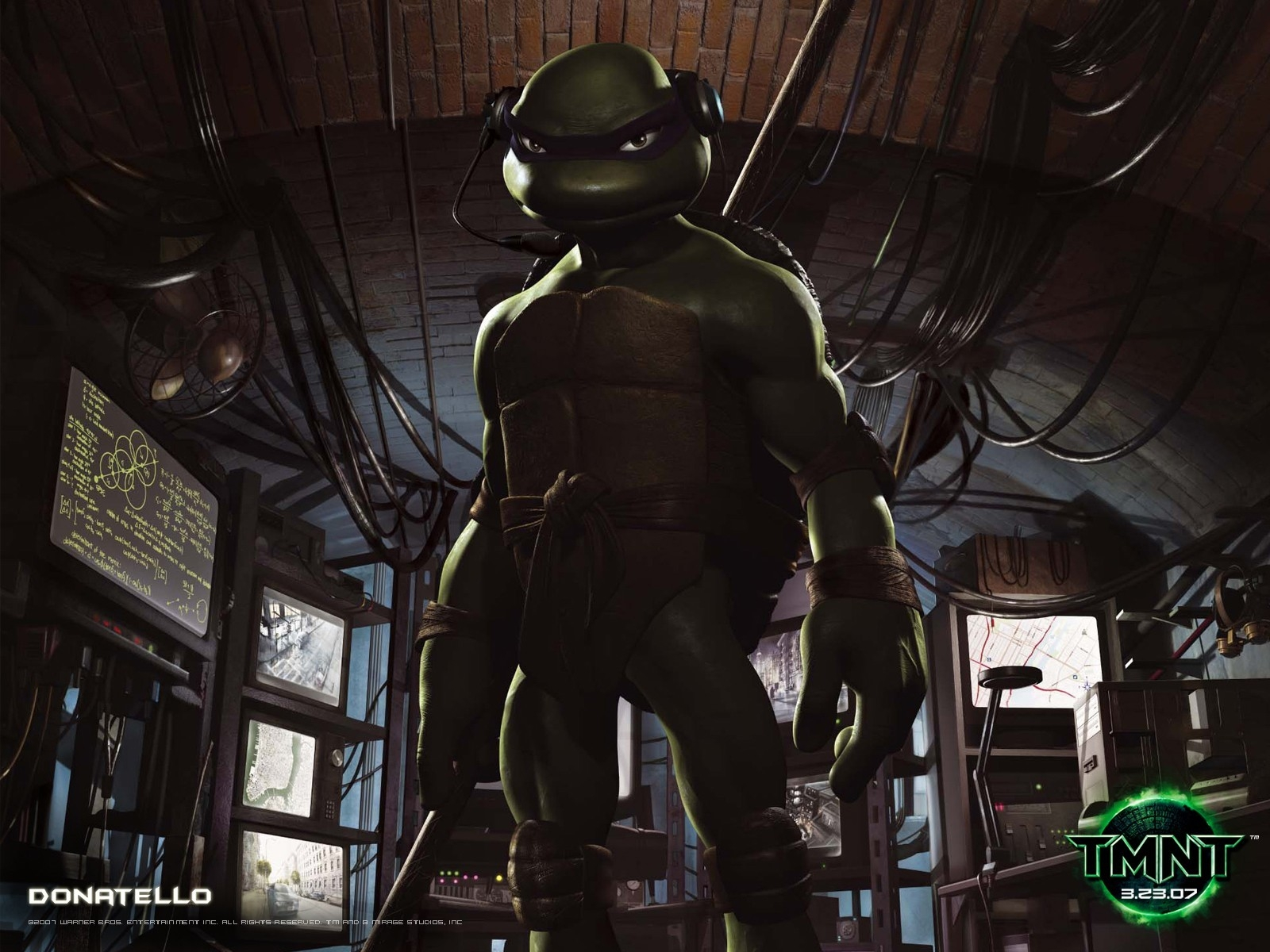 Un wallpaper di Donatello per il film 'Teenage Mutant Ninja Turtles Photo'