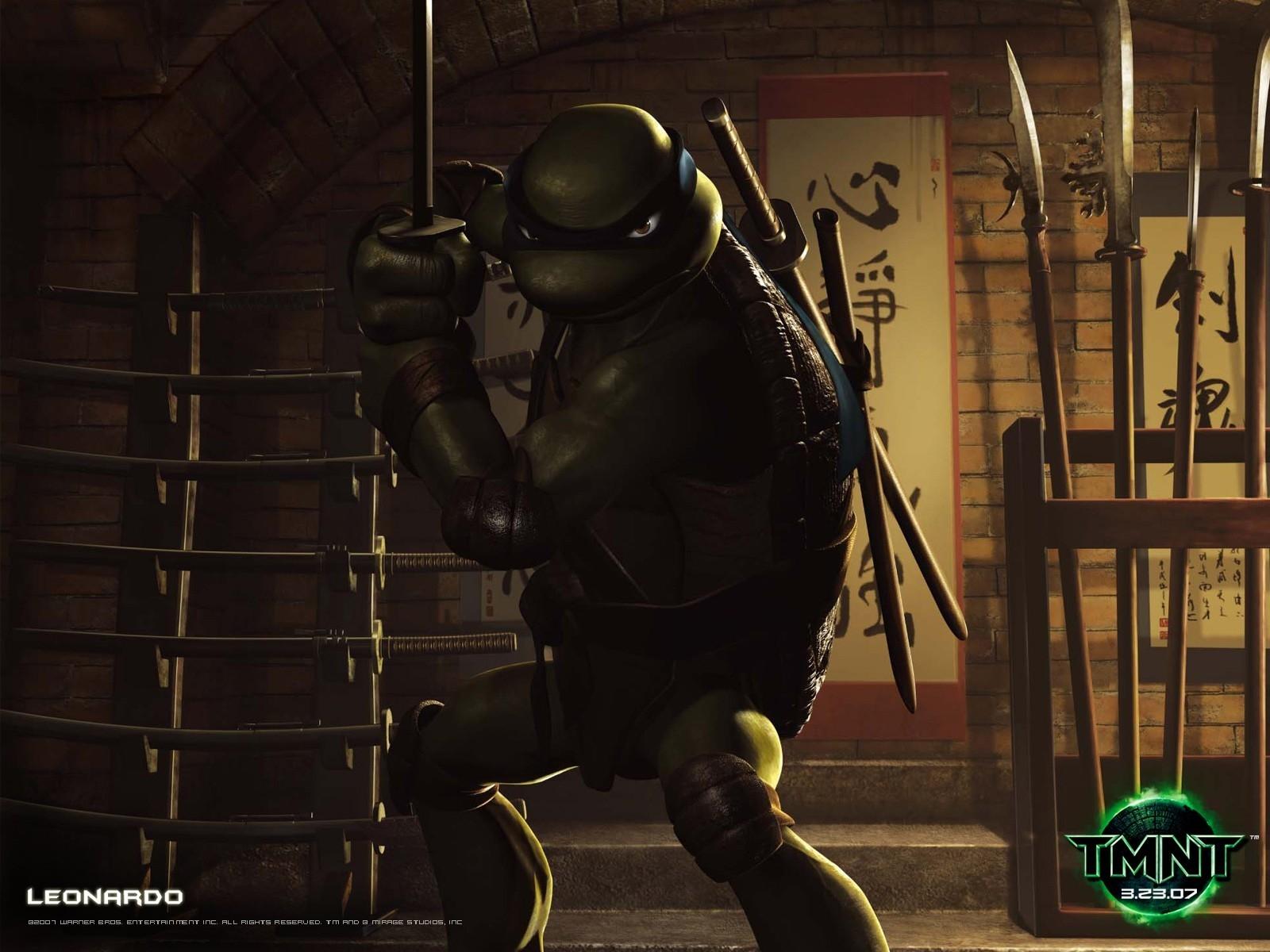 Un wallpaper di Leonardo per il film 'Teenage Mutant Ninja Turtles Photo'