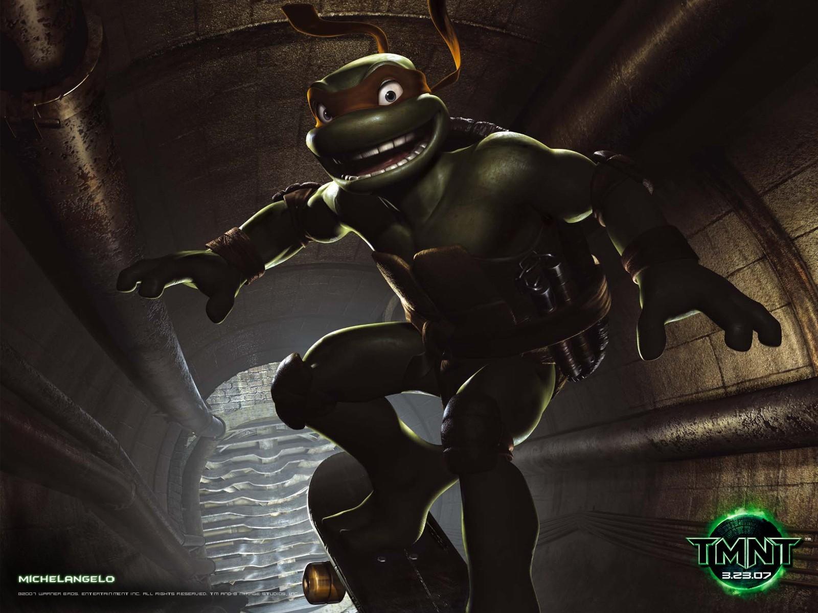 Un wallpaper di Michelangelo per il film 'Teenage Mutant Ninja Turtles Photo'