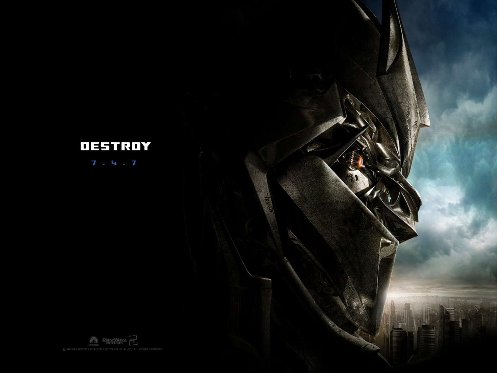Wallpaper 'Destroy' del film Transformers