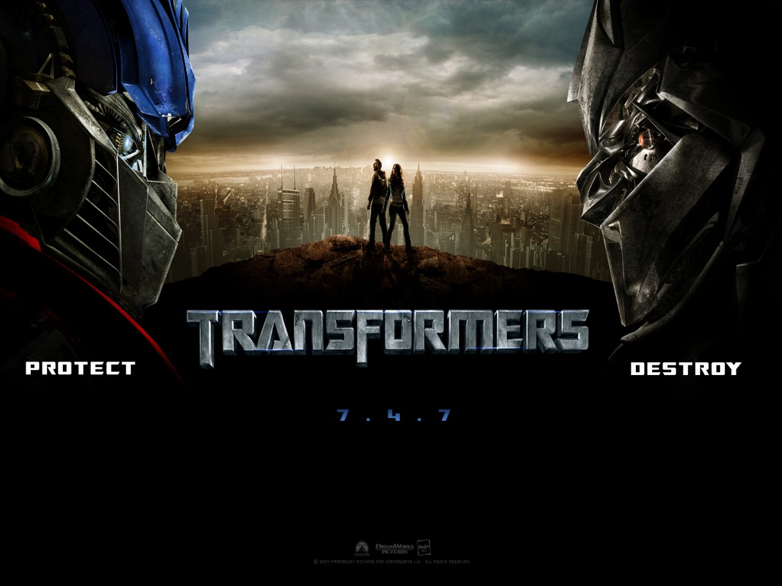 Suggestivo wallpaper del film Transformers