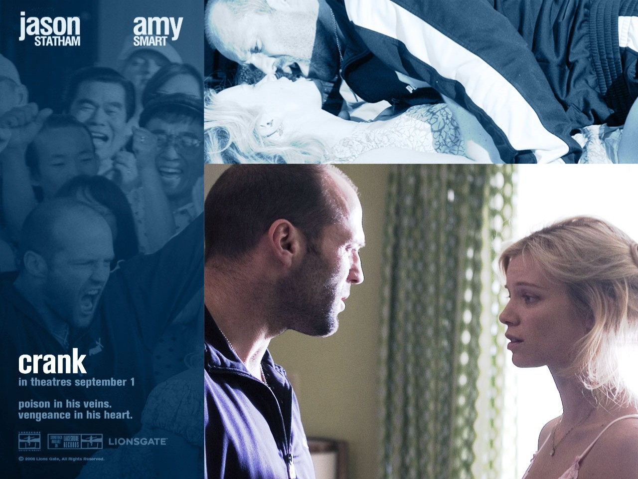 Wallpaper del film Crank: Jason Statham e Amy Smart