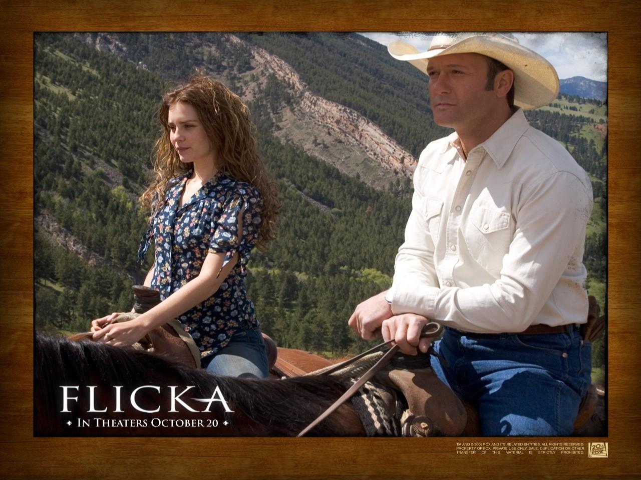 Wallpaper del film Flicka - Uno Spirito libero con Alison Lohman e Tim McGraw