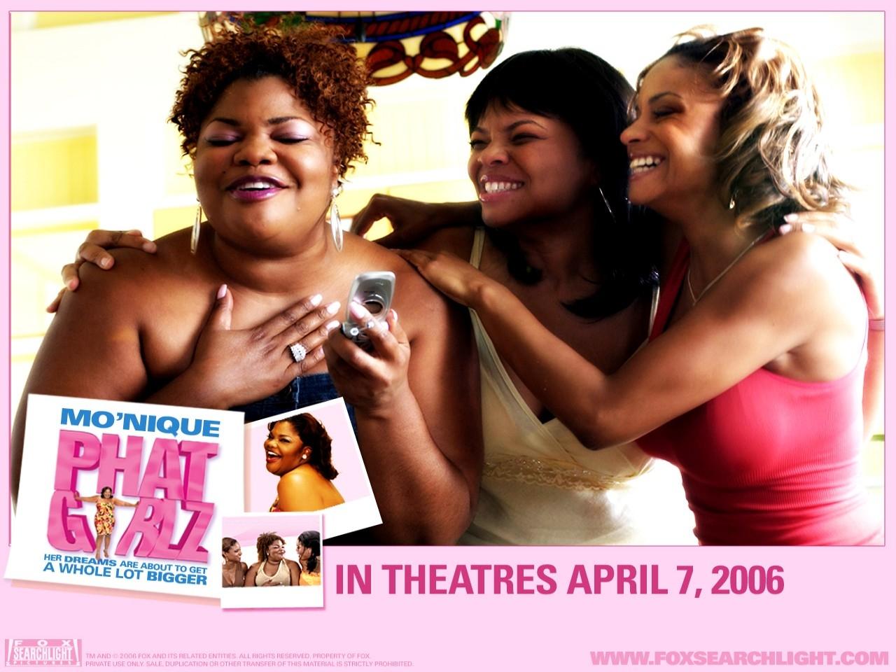 Wallpaper del film Phat Girlz con le burrose protagoniste