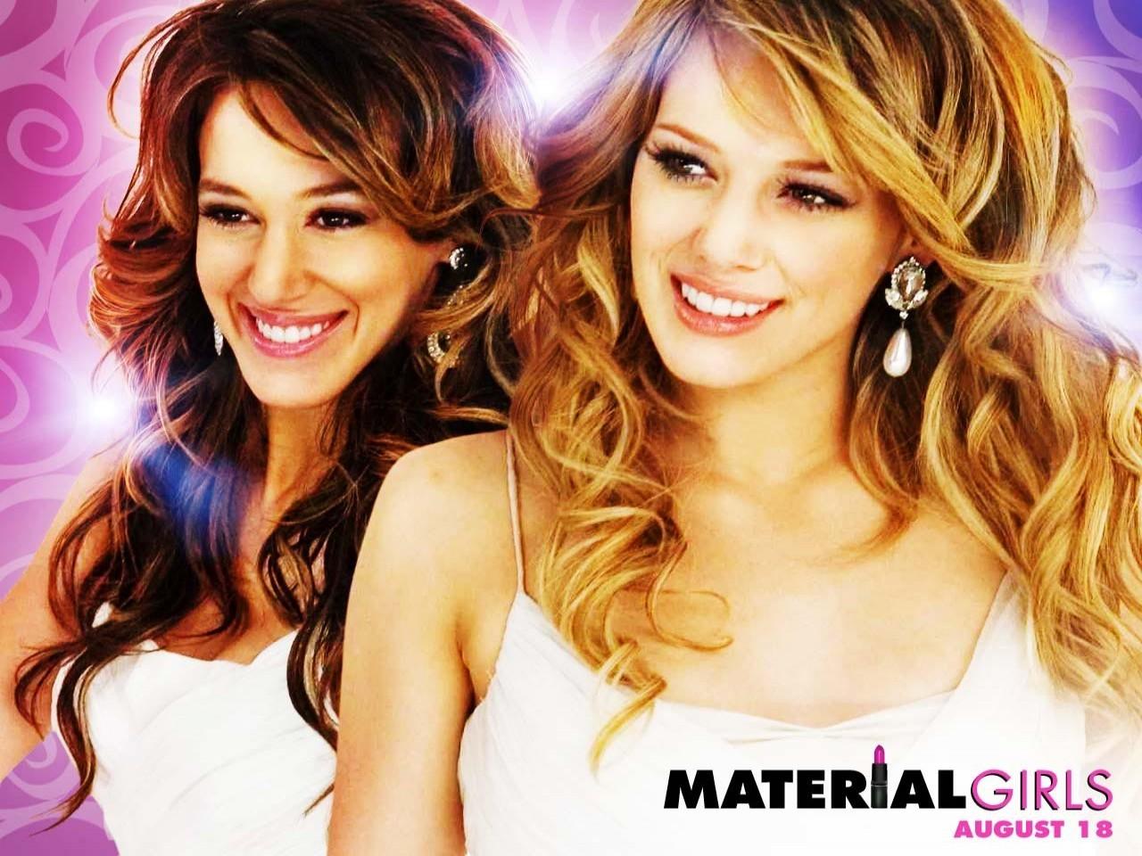 Wallpaper del film Material Girls con Haylie e Hilary Duff
