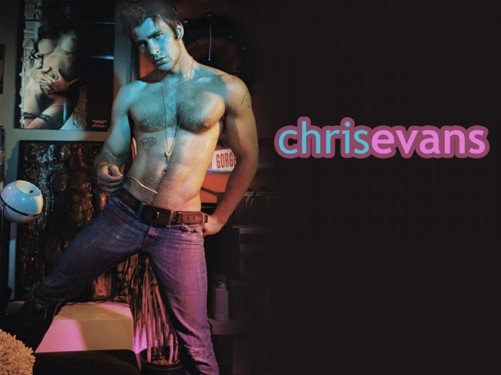 Wallpaper di Chris Evans in posa irresistibilmente sexy