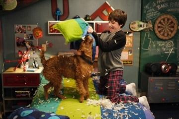 Josh Hutcherson  in una scena del film Il cane pompiere