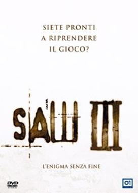 La copertina DVD di Saw III - L'enigma senza fine