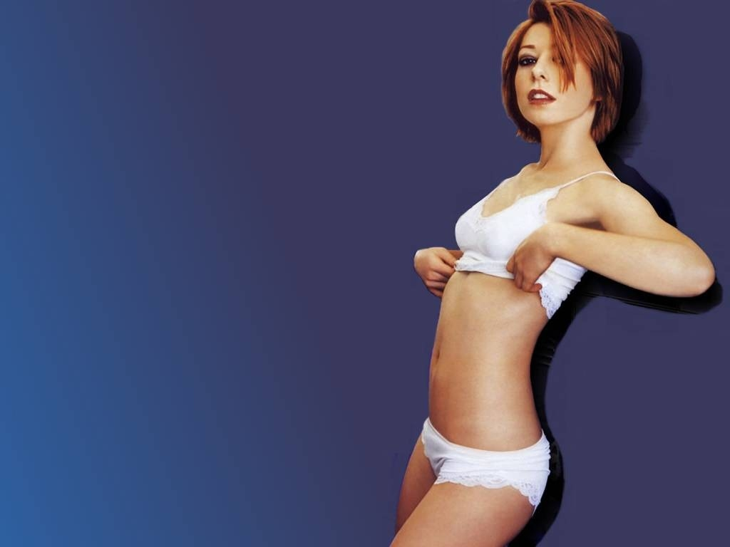 Wallpaper sexy di Alyson Hannigan