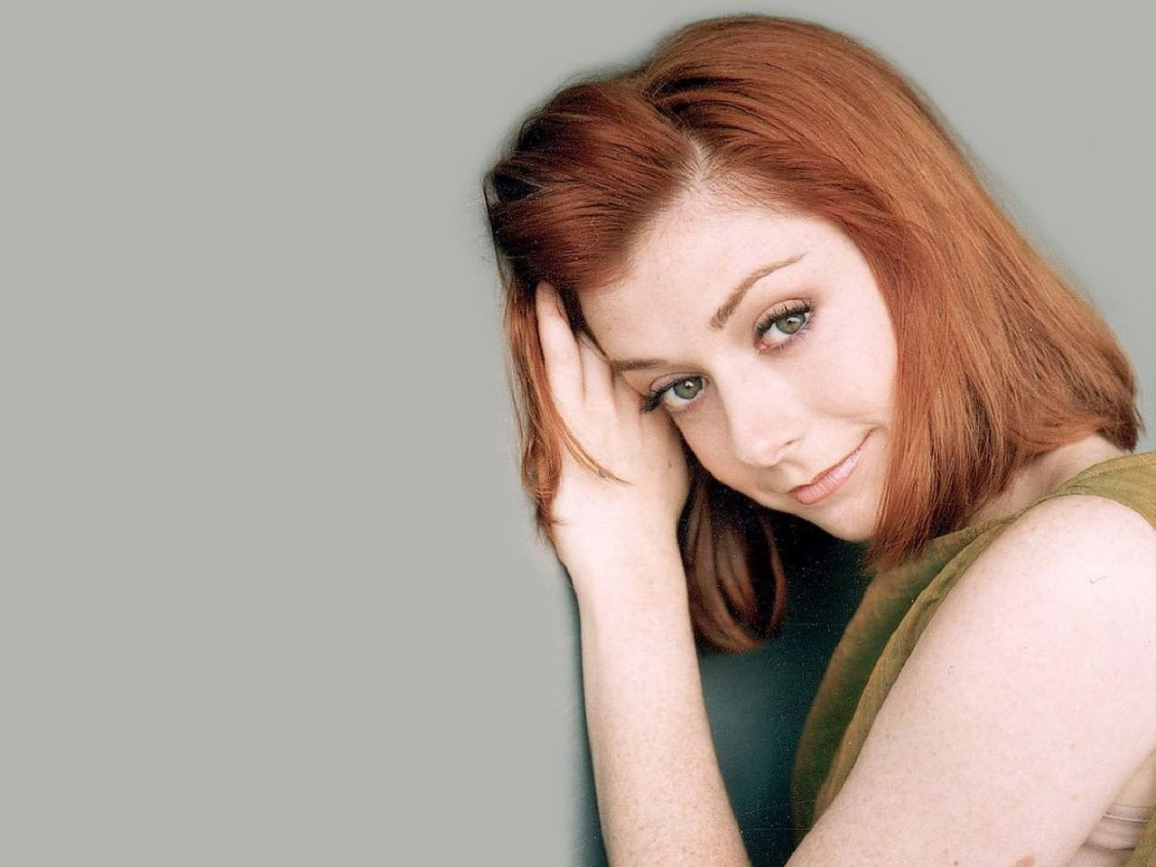 Wallpaper di Alyson Hannigan, la rossa star di Buffy