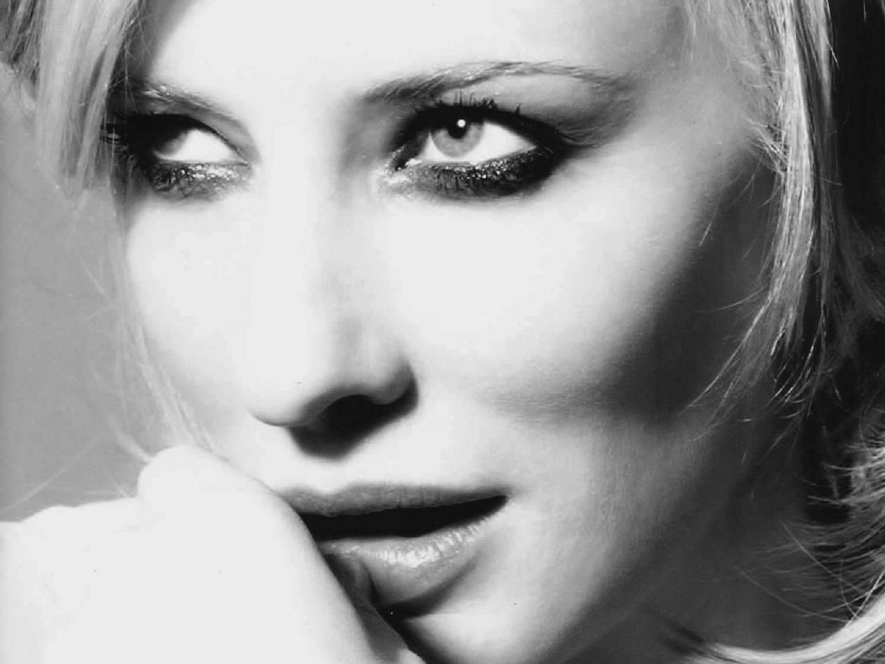 Wallpaper con un primo piano di Cate Blanchett