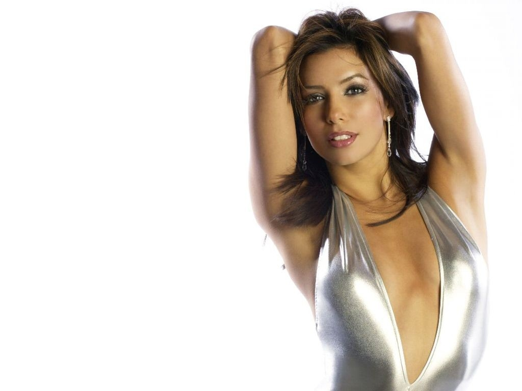 Wallpaper di Eva Longoria Parker in costume d'argento