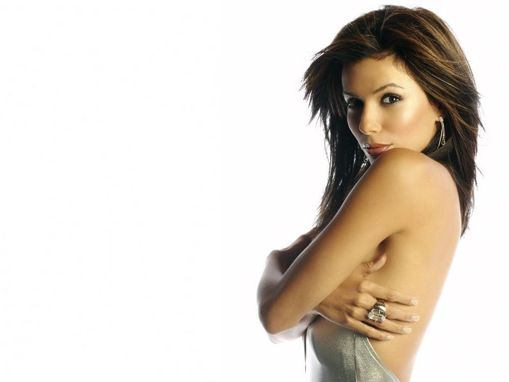 Wallpaper di Eva Longoria Parker in bianco