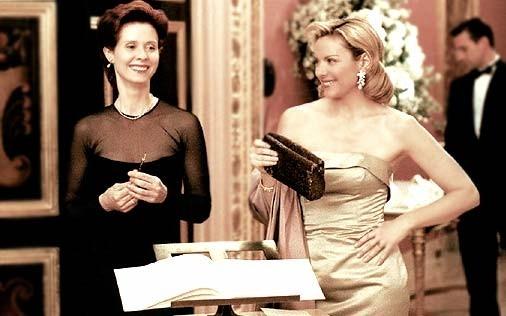 Cynthia Nixon, e Kim Cattrall in una scena di Sex and the City, episodio Obiettivo: matrimonio