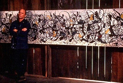 Ed Harris in una sequenza del film Pollock