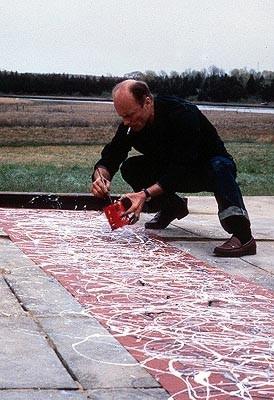 Ed Harris in una scena del biopic Pollock