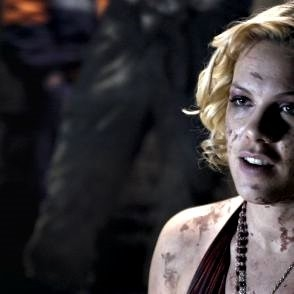 Pink in una scena del film Catacombs