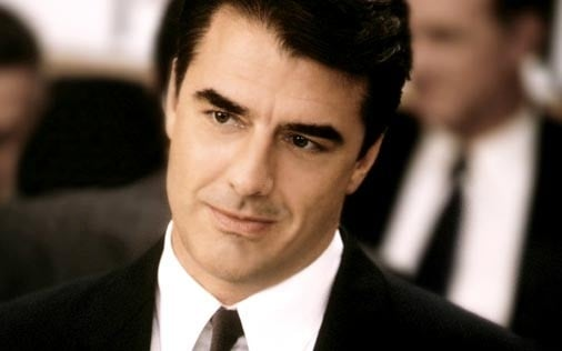 Chris Noth in una scena di Sex and the City, episodio C'è chi va e c'è chi viene