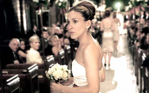 Sarah Jessica Parker in una scena di Sex and the City, episodio Nessuna domanda, nessuna risposta