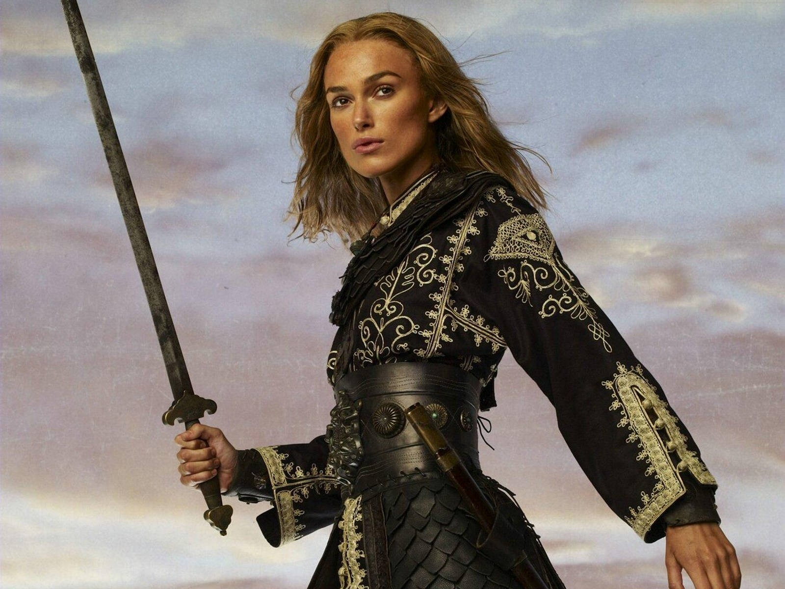 Wallpaper di Keira Knightley, star del franchise dei Pirati dei Caraibi
