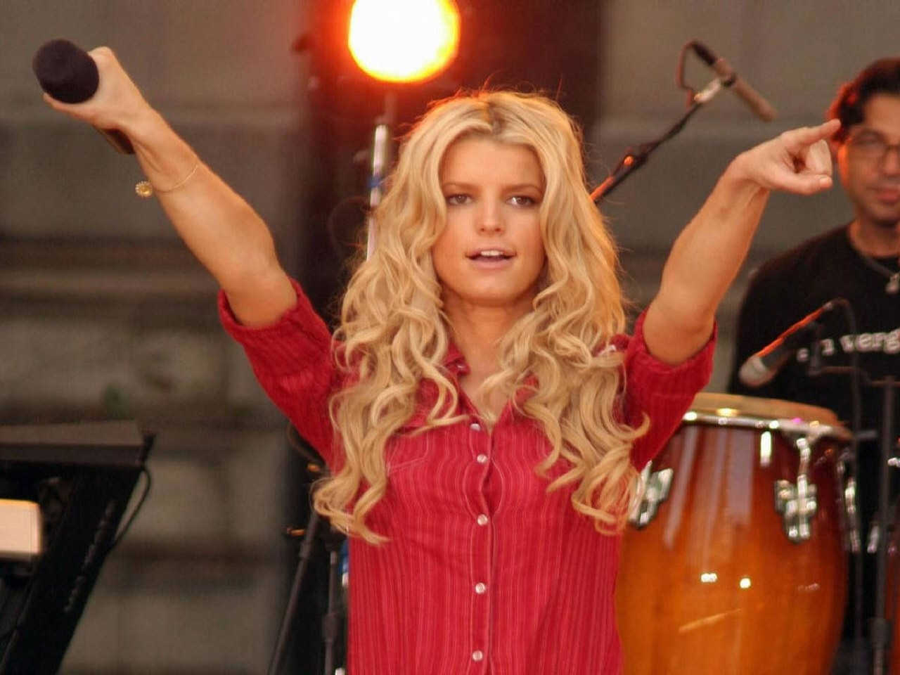 Wallpaper di Jessica Simpson sul palco