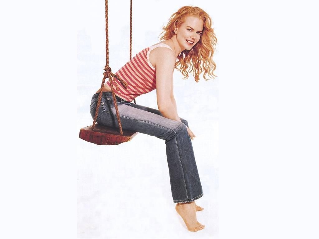 Wallpaper di Nicole Kidman in altalena