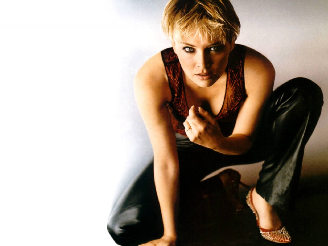 Wallpaper - Sharon Stone, seducente e splendida attrice americana
